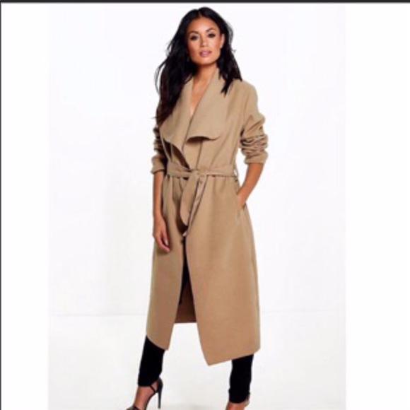 b3fe066a559c7 Boohoo Jackets & Coats | Trench Coat Sz Sm Nwot Camel | Poshmark